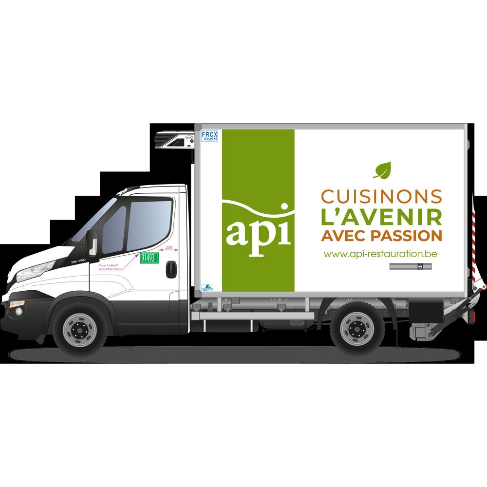 Des camions aux couleurs d'Api Belgique