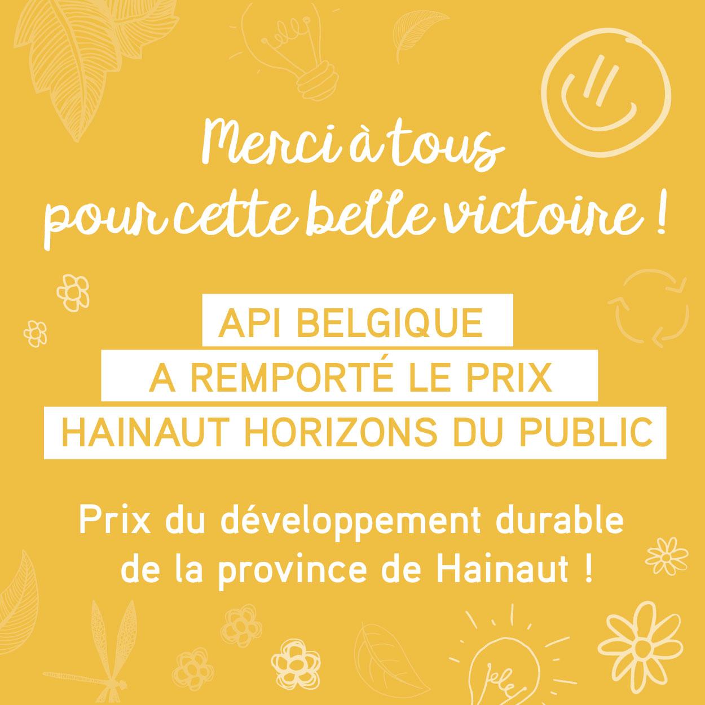 Nous avons remporté le Prix du Public – Hainaut Horizons !