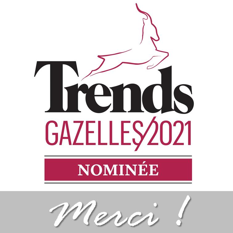Un bon début d'année grâce à notre nomination pour le Trends Gazelles 2021